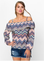Blouse encolure Carmen, RAINBOW
