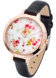 Montre bracelet à motif floral, bpc bonprix collection