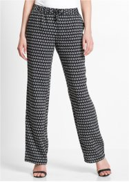 Pantalon confortable imprimé en viscose, bpc selection