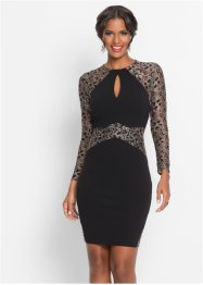 Robe à empiècement dentelle brillant, BODYFLIRT boutique