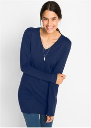 Pull long en maille fine, bpc bonprix collection