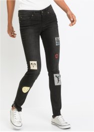 Jean Skinny avec patches, RAINBOW
