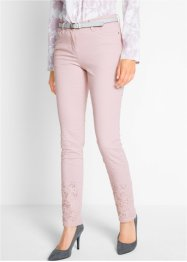 Pantalon extensible avec pierres brillantes et broderie, bpc selection