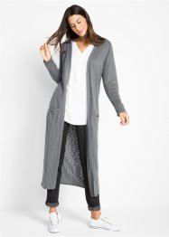 Gilet en maille extra long, manches longues, bpc bonprix collection