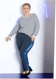 Pantalon sweat à empiècement satin - designed by Maite Kelly, bpc bonprix collection