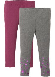 Lot de 2 leggings avec paillettes, bpc bonprix collection