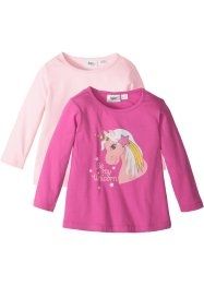 Lot de 2 T-shirts longs, bpc bonprix collection