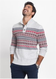 Pull avec patte de boutonnage Regular Fit, bpc bonprix collection