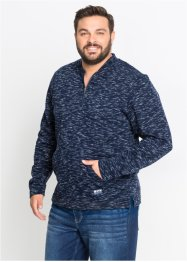 Sweat-shirt col baseball chiné Regular Fit, bpc bonprix collection