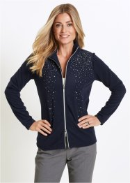 Gilet en polaire avec pierres brillantes, bpc selection