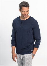 T-shirt manches longues avec patte de boutonnage Regular Fit, bpc bonprix collection