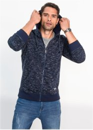 Gilet sweat à capuche chiné Regular Fit, bpc bonprix collection