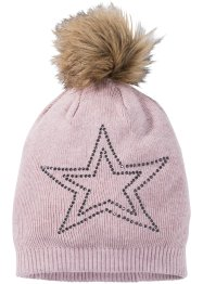Bonnet en maille avec strass, bpc bonprix collection