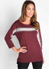 Pull court-long avec application brillante, bpc bonprix collection