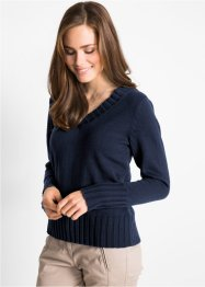 Pull col en V, bpc bonprix collection