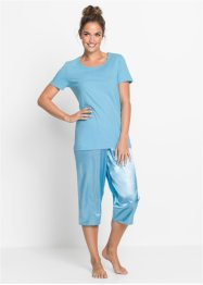 Pyjama corsaire avec pantalon en satin, bpc bonprix collection