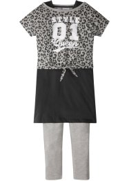 T-shirt boxy + robe + legging (Ens. 3 pces.), bpc bonprix collection