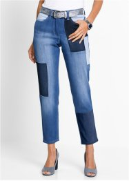 Jean extensible 7/8 patchwork, bpc selection