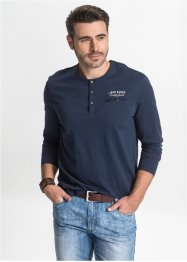 T-shirt manches longues avec patte de boutonnage Regular Fit, John Baner JEANSWEAR