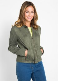 Veste synthétique imitation cuir velours, bpc bonprix collection