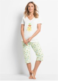 Pyjama corsaire coton bio, bpc bonprix collection