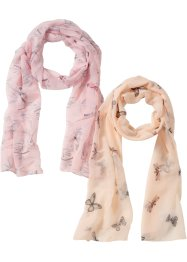 Foulard motif oiseau + papillon (Ens. 2 pces.), bpc bonprix collection