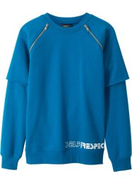 Sweat-shirt style double épaisseur avec zips, bpc bonprix collection