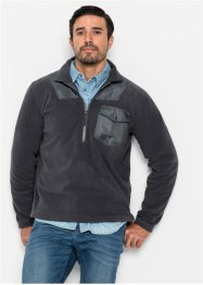 Sweat-shirt polaire avec zip Regular Fit, bpc bonprix collection