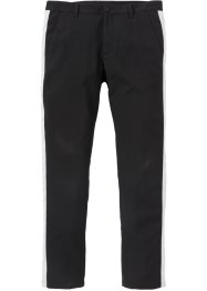 Pantalon de costume à bandes contrastantes Slim Fit Straight, RAINBOW