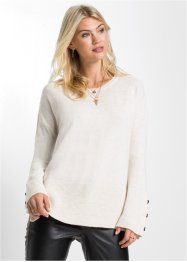 Pull en maille avec boutons imitation corne : MUST-HAVE, RAINBOW