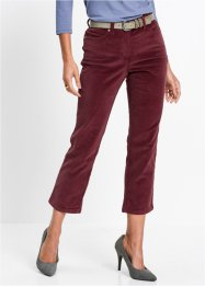Pantalon en velours côtelé extensible 7/8, bpc selection