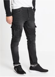 Jean extensible style biker Slim Fit Straight, RAINBOW