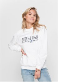 Sweat-shirt oversize brodé, RAINBOW