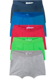 Lot de 5 boxers en coton bio, bpc bonprix collection