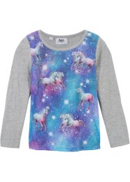 T-shirt manches longues avec impression photo licorne, bpc bonprix collection