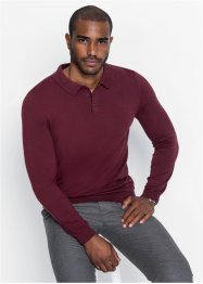 Pull col polo en maille fine, bpc selection