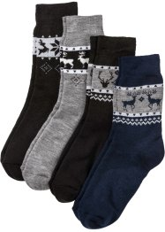 Lot de 4 paires de chaussettes thermo mixtes, bpc bonprix collection