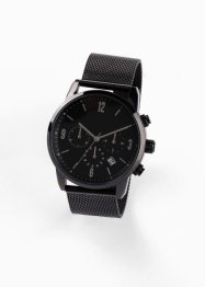 Montre chrono homme en acier inoxydable, bpc bonprix collection