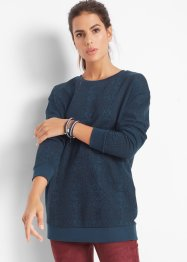 Sweat-shirt long imprimé, John Baner JEANSWEAR