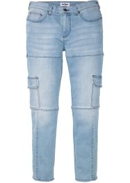 Jean extensible cargo Slim Fit Straight, John Baner JEANSWEAR