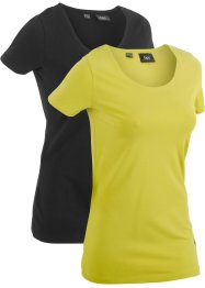 Lot de 2 T-shirts de sport longs, manches courtes, bpc bonprix collection
