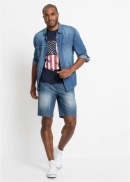 Bermuda en jean à enfiler, Regular Fit, John Baner JEANSWEAR