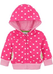 Veste sweat bébé à capuche coton bio, bpc bonprix collection