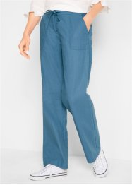 Pantalon en lin jambes larges, bpc bonprix collection