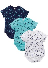 Lot de 3 bodies bébé manches courtes en coton bio, bpc bonprix collection