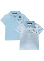 Lot de 2 polos bébé en coton bio, bpc bonprix collection