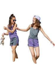 Lot de 2 shorts fille en coton bio, bpc bonprix collection