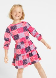 Robe fille en jersey avec volants coton bio, bpc bonprix collection