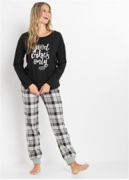 Pyjama avec T-shirt oversize, bpc bonprix collection