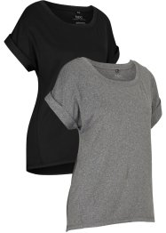 Lot de 2 T-shirts de sport à manches courtes, bpc bonprix collection